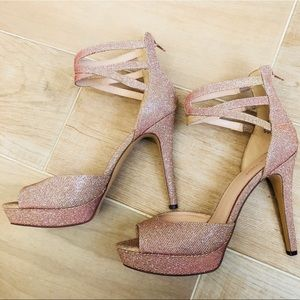 5fa857ffcbef Nine West Shoes - NEW Nine West Glittery Gold Pink Heels Stilettos